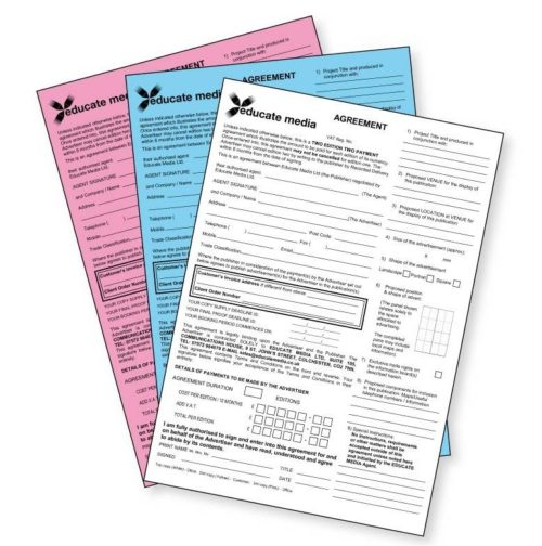 NCR Forms and Duplicate Sheets