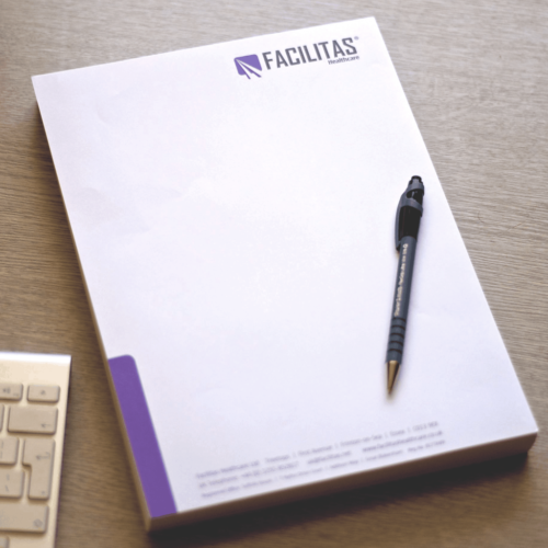 Letterheads in our stationery pack