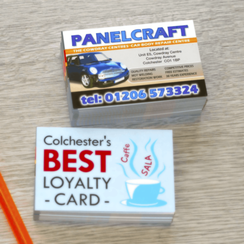business cards in our stationery pack