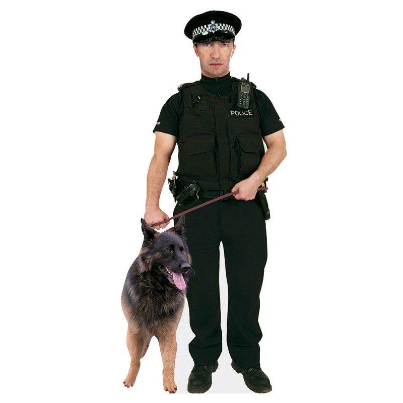 Cardboard Cutout Policeman Cutting Crime Print Colchester