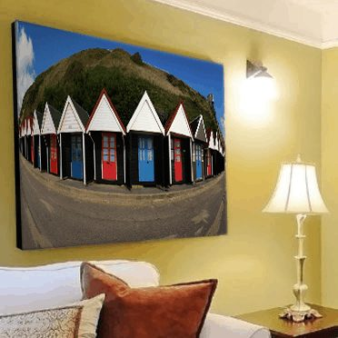 Bournemouth Beach-Huts-Wall-Art