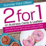 2 for 1 leaflets and business cards