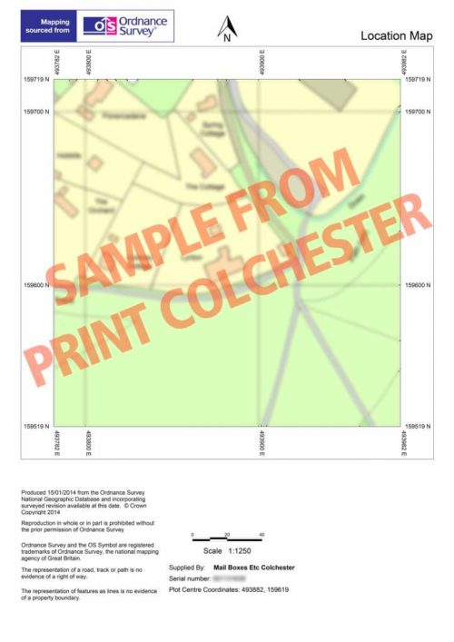 MBE Colchester - Planning Application Maps Sample