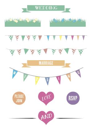 Wedding Invitations Design Kit