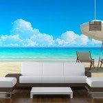 Bespoke Wallpaper Beach Scene Print